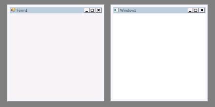 Form vs. Window