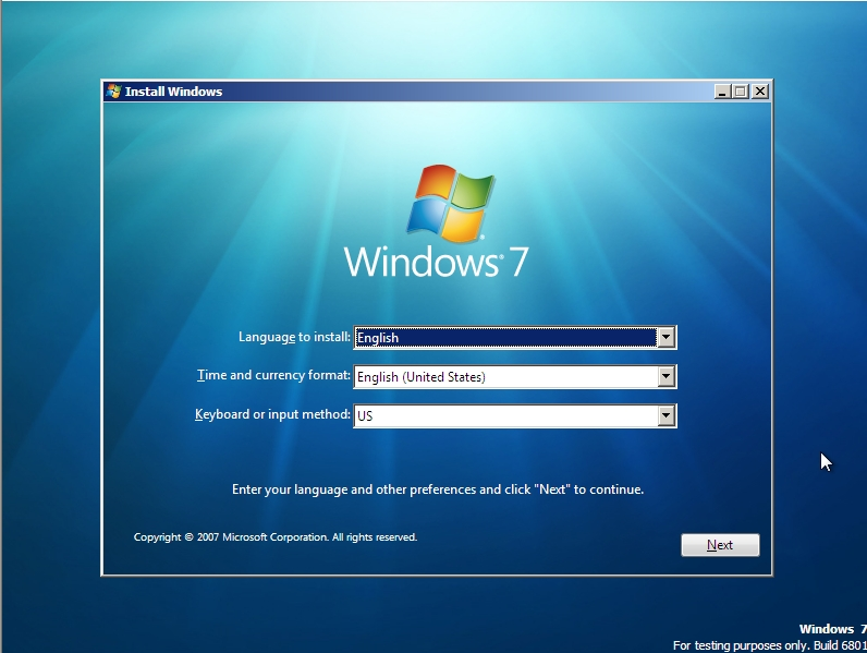 windows 7 install screenshots sean 39 s stuff