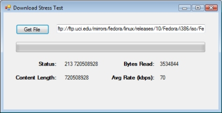 Downloading a file from an FTP server