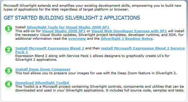 Getting Started with Silverlight