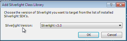 Create Silverlight Class Library
