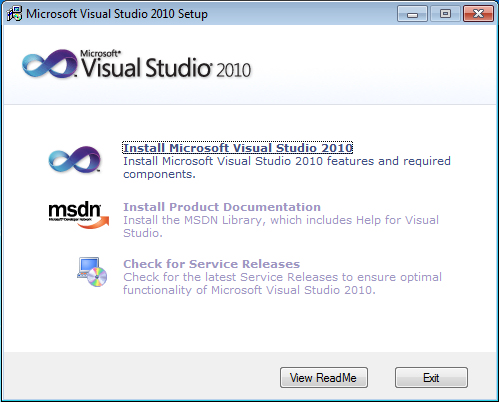 Visual Studio 2010 Installation