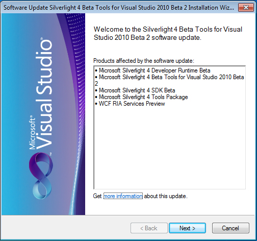 Silverlight 4 Tools Install