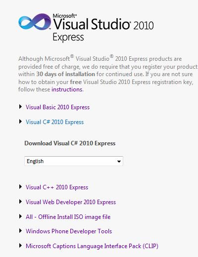 visual basic 2010 express product key